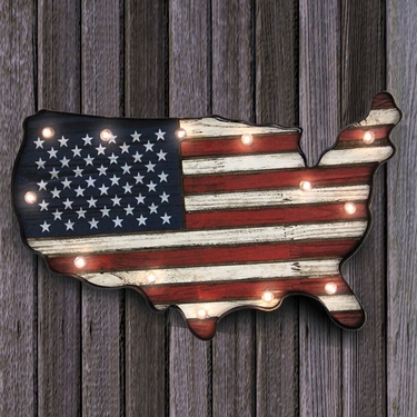 USA Flag Marquee - Battery Operated - Click to enlarge