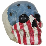 USA Flag Skull w/Color Changing LEDs