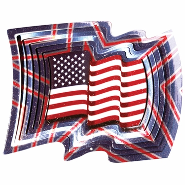 USA Flag Wind Spinner - Click to enlarge
