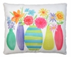 Vases w/Flowers Outdoor Pillow