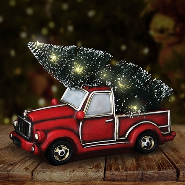 Vintage Truck w/LED Christmas Tree - Click to enlarge