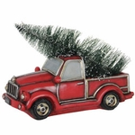 Vintage Truck w/LED Christmas Tree
