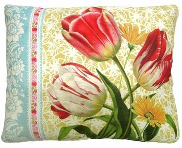 Vintage Tulips Outdoor Pillow - Click to enlarge
