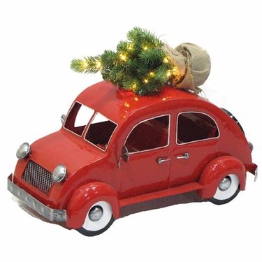 VW Inspired Christmas Bug w/LED Tree - Click to enlarge