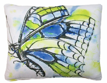 Watercolor Butterfly Outdoor Pillow - Click to enlarge