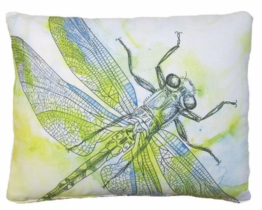 Watercolor Dragonfly Outdoor Pillow - Click to enlarge