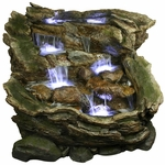 Waterfall Pools Outdoor Fountain w/LED Lights