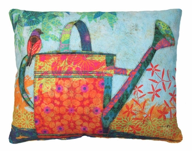Watering Can Outdoor Pillow - Click to enlarge