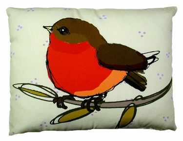 Wee Robin Outdoor Pillow - Click to enlarge