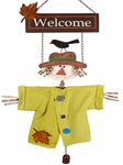 Welcome Scarecrow Door Hanger