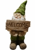 Garden Gnome w/Welcome Sign
