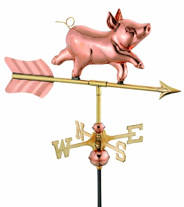 Whimsical Pig Weathervane - Click to enlarge