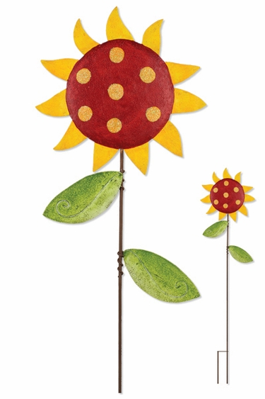 Whimsical Red Sunflower - Click to enlarge