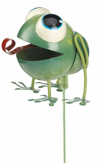 Whimsy Frog Garden Stake - Click to enlarge