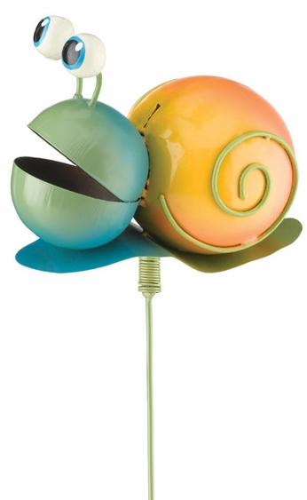 Whimsy Snail Garden Stake - Click to enlarge