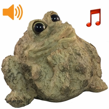 Whistling Toad w/Motion Sensor- Light Natural - Click to enlarge