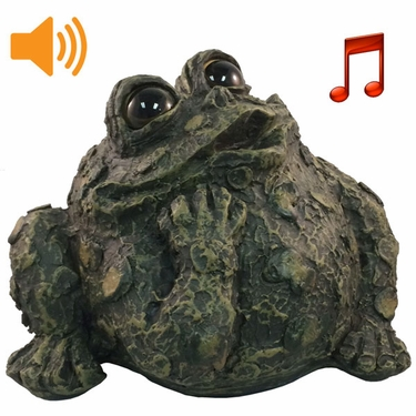 Whistling Toad w/Motion Sensor- Dark Natural - Click to enlarge