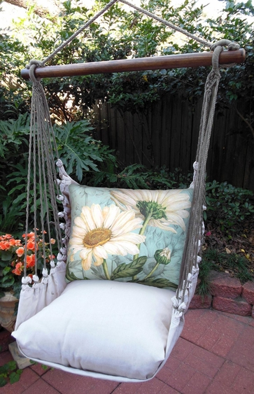 White Daisies Hammock Chair Swing Set - Click to enlarge