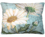 White Daisies Outdoor Pillow