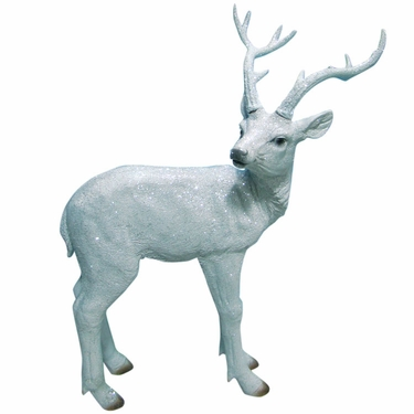 White Deer Statue - Small - Click to enlarge