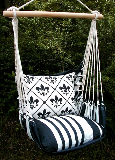 White French Quarter Hammock Chair Swing Set - Click to enlarge