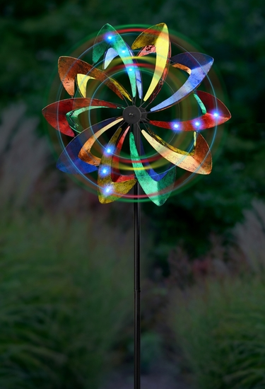Wind-Powered LED Light Wind Spinner - Click to enlarge