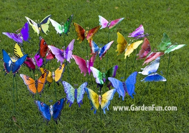 Windy Wings Butterfly Garden Stakes (Set of 6) - Click to enlarge