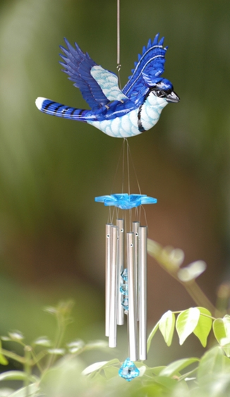 WindyWings Blue Jay Wind Chime by Exhart - Click to enlarge