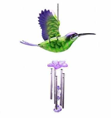 WindyWings Hummingbird Wind Chime by Exhart - Click to enlarge