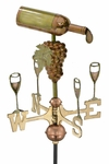 Wine Bottle Garden Weathervane