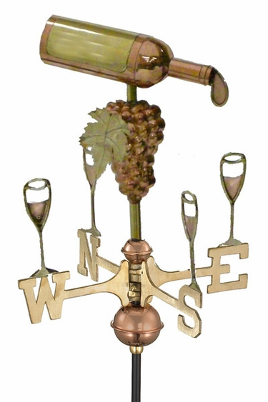 Wine Bottle Garden Weathervane - Click to enlarge