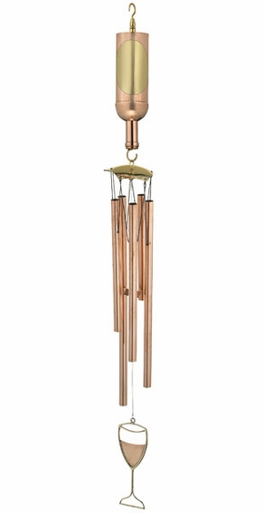 Wine Bottle Wind Chime - Click to enlarge