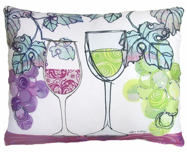 Wine Glasses Outdoor Pillow - Click to enlarge
