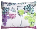 Wine Glasses Outdoor Pillow