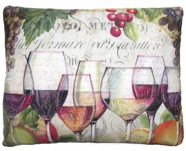 Wine Line Outdoor Pillow - Click to enlarge