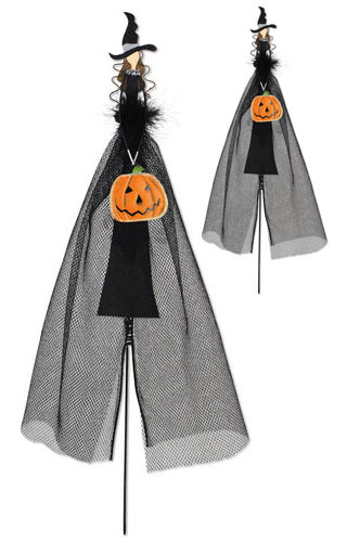 Witch Pumpkin Decoration (Set of 2) - Click to enlarge