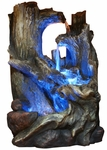 Wood Falls Tabletop Fountain w/LED Light