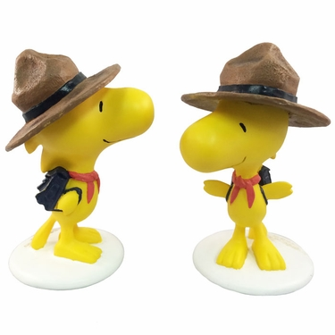 Woodstock Bird Scout w/Brown Hat  (Set of 2) - Click to enlarge