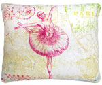 World's Fair Ballerina Outdoor Pillow