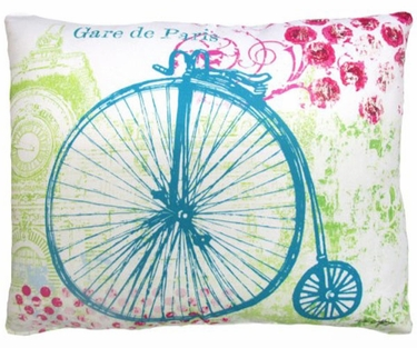 World's Fair Bicycle Outdoor Pillow - Click to enlarge
