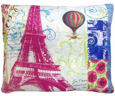 World's Fair Eiffel Tower Outdoor Pillow - Click to enlarge