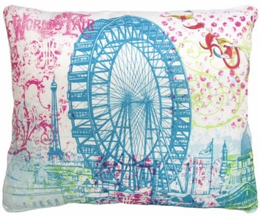 World's Fair Ferris Wheel Outdoor Pillow - Click to enlarge