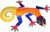 XL Orange Spotted Gecko Wall Art