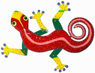 XL Red Spotted Gecko Wall Art - Click to enlarge