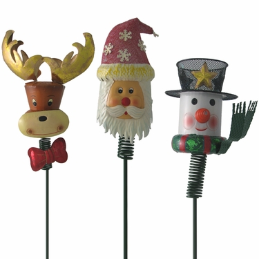 Xmas Garden - Christmas Yard Stakes (Set of 3) - Click to enlarge