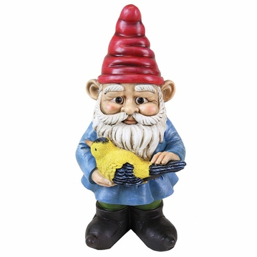 Yard Gnome w/Bird - Click to enlarge
