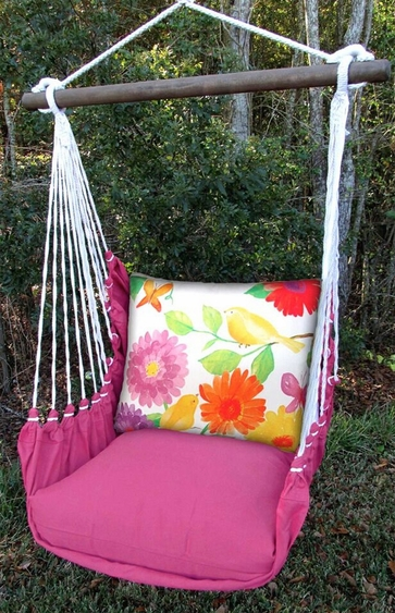 Yellow Birds Garden Hammock Chair Swing Set - Click to enlarge