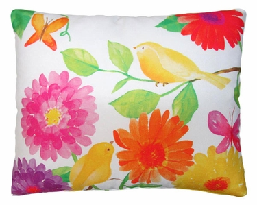Yellow Birds Outdoor Pillow - Click to enlarge
