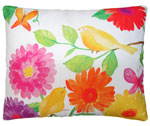 Yellow Birds Outdoor Pillow