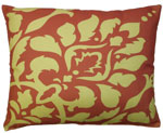 Yellow Damask Outdoor Pillow